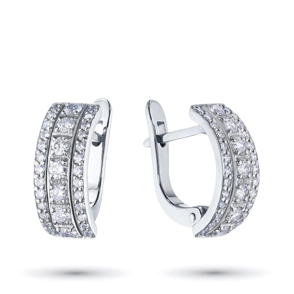 Серьги из белого золота с бриллиантами э0901сг08145100 э0901сг08145100