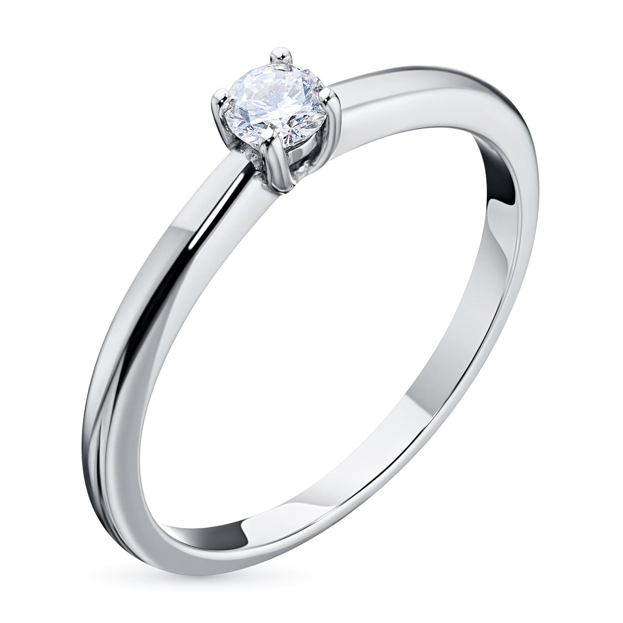 Кольцо из белого золота с бриллиантом э0901кц01162900 э0901кц01162900