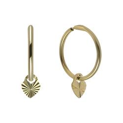 Золотые серьги с алмазной обработкой