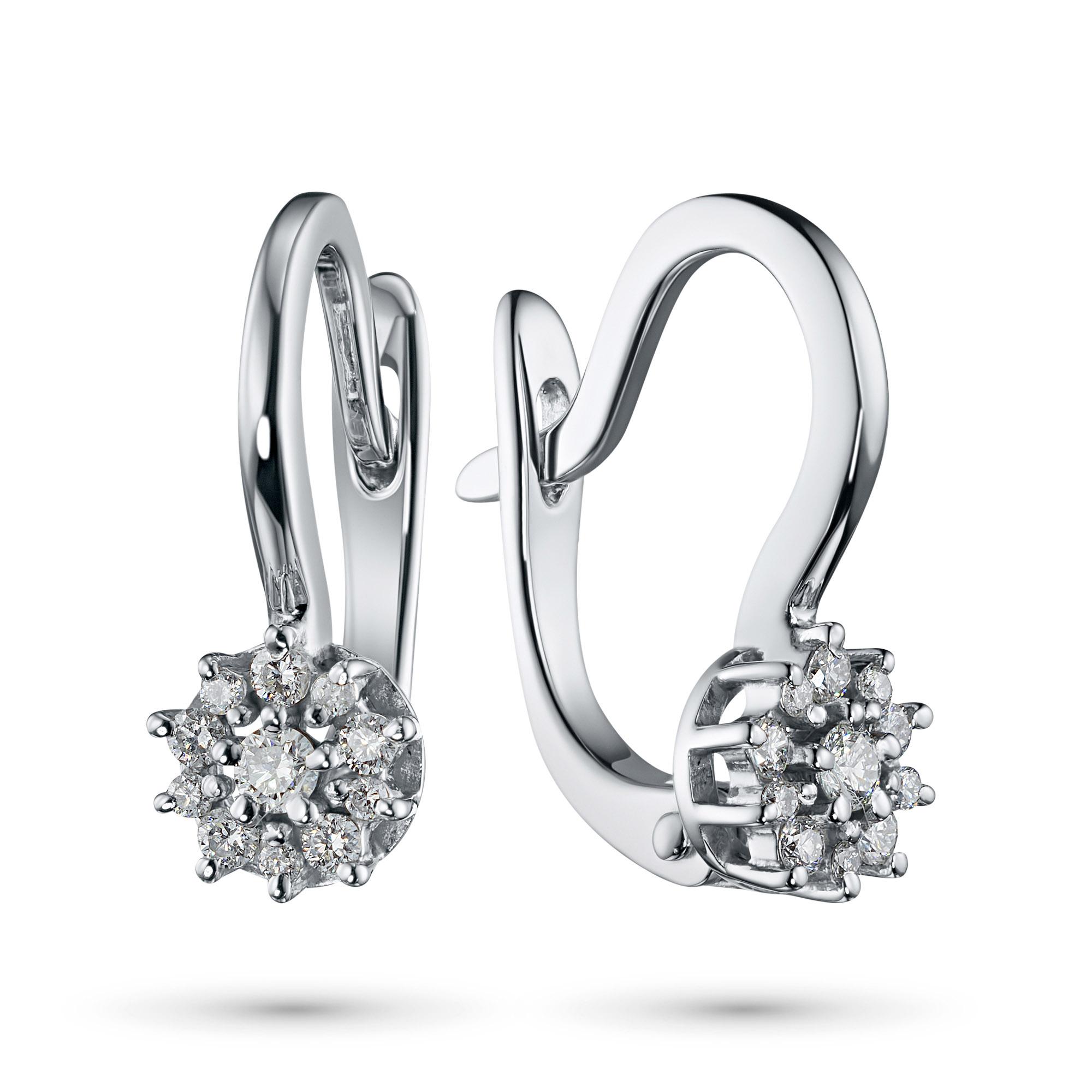 Серьги из белого золота с бриллиантами э0901сг07191000 э0901сг07191000